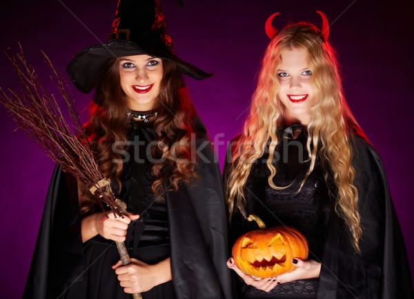 Halloween witches Stock photo © pressmaster