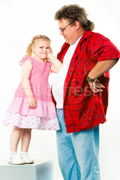 Girl with her daddy  Stock photo © pressmaster