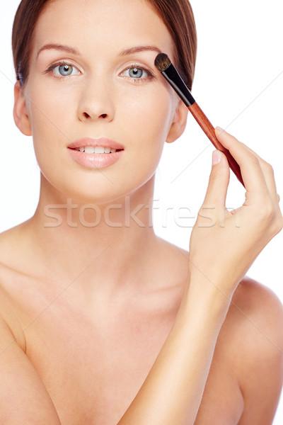 Fresche ragazza pennello bianco giovani Foto d'archivio © pressmaster