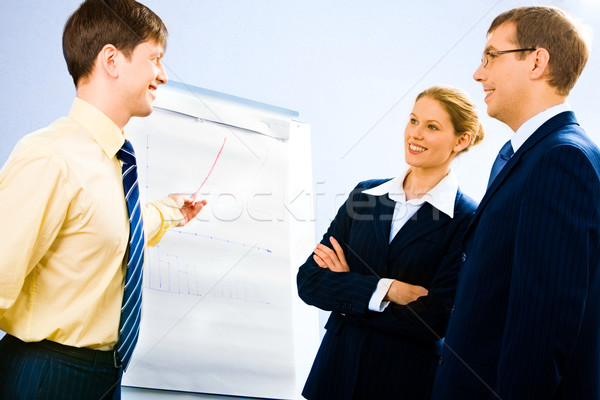 Toelichting portret geslaagd zakenman presentatie Stockfoto © pressmaster