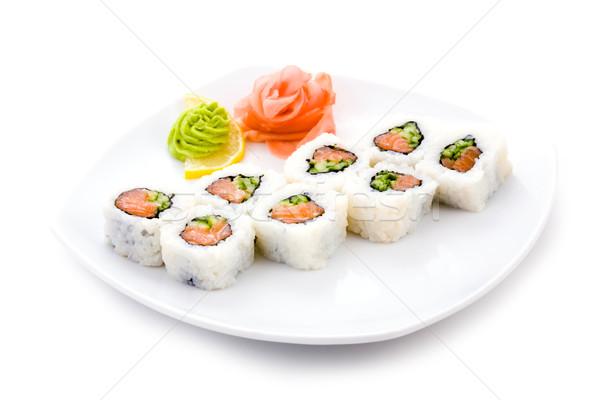 Foto d'archivio: Maki · immagine · sushi · servito · zenzero
