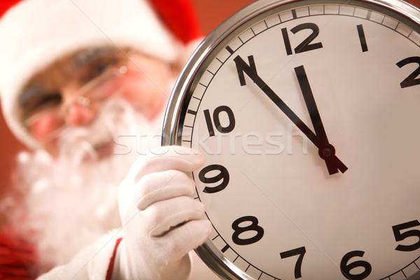 öt jegyzőkönyv karácsony fotó óra mutat Stock fotó © pressmaster