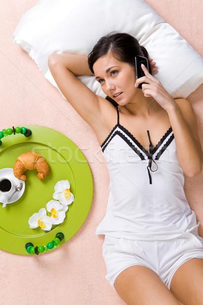 Stock photo: Telephone conversation