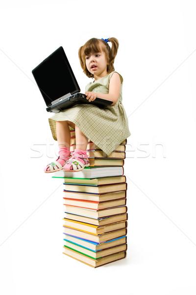 Foto stock: Superior · conocimiento · imagen · escribiendo · nina