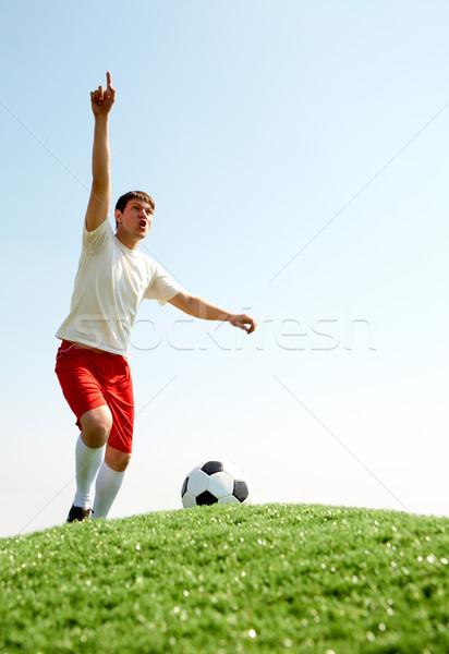 Voetballer afbeelding voetbal sport veld Stockfoto © pressmaster