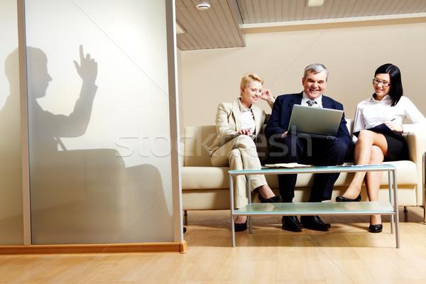 Stock fotó: Dolgozik · csapat · portré · üzleti · partnerek · projekt · üzlet