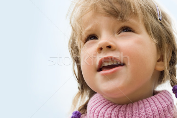 Stockfoto: Mooie · kind · portret · cute · meisje · naar