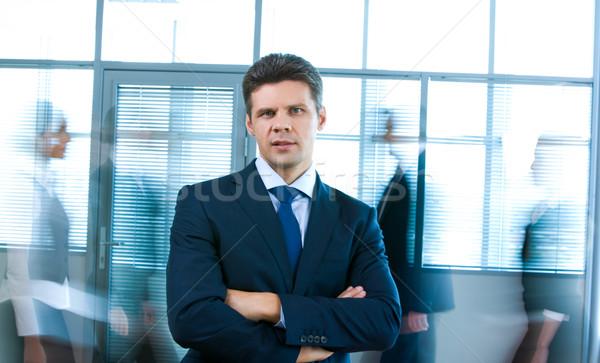 ストックフォト: 成功した · ビジネスマン · 肖像 · 男 · 見える · カメラ
