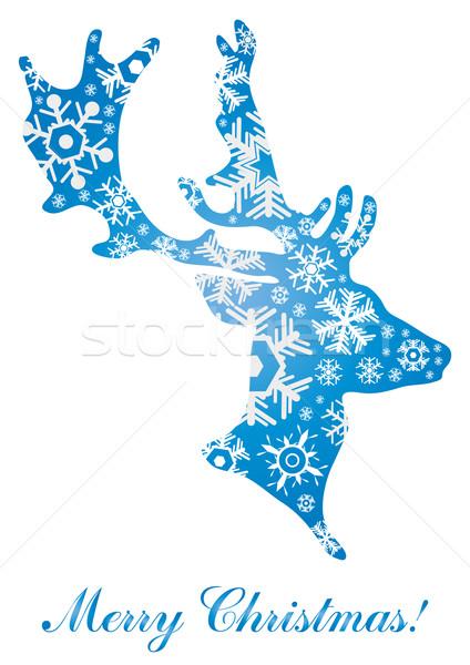 Abstract christmas herten natuur ontwerp sneeuw Stockfoto © pressmaster