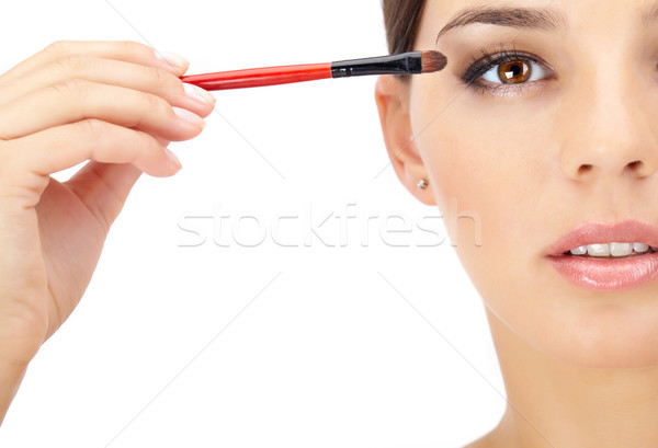 Retrato mulher lábios pessoa Foto stock © pressmaster
