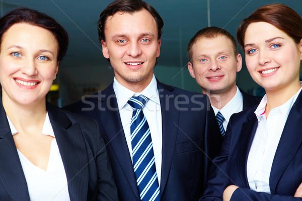 Stockfoto: Personeel · groep · naar · camera · business