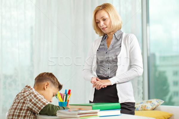 Boy and his tutor Stock photo © pressmaster