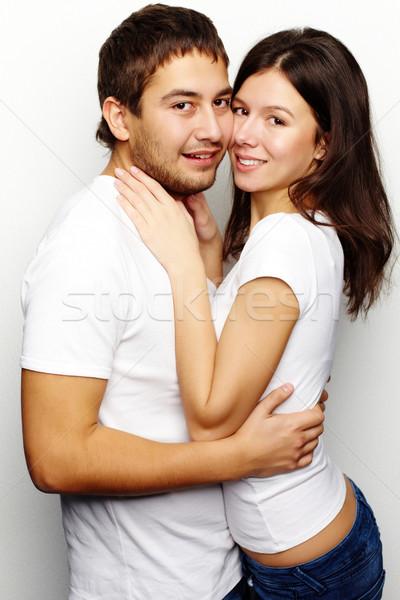 Genegenheid gelukkig vrouw echtgenoot naar Stockfoto © pressmaster