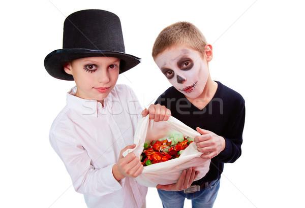 Boys with treats Stock photo © pressmaster