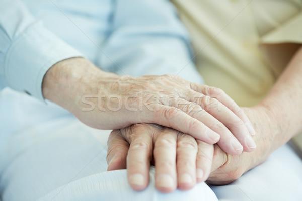 Hands of seniors Stock photo © pressmaster