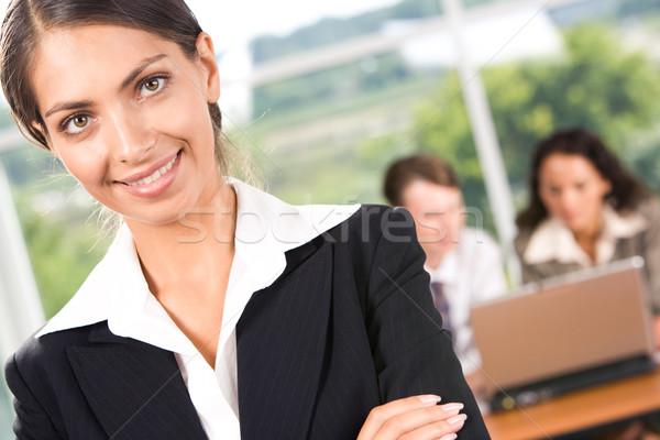 Stock fotó: Nő · portré · sikeres · üzlet · hölgy · néz · kamera