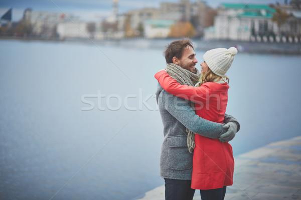 Szerelmi pár portré boldog fickó barátnő Stock fotó © pressmaster