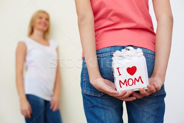 подарок за назад джинсов Сток-фото © pressmaster