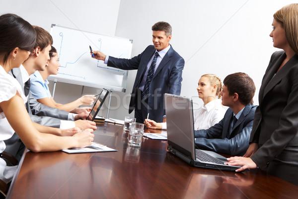 Seminar afbeelding smart zakenlieden naar leider Stockfoto © pressmaster