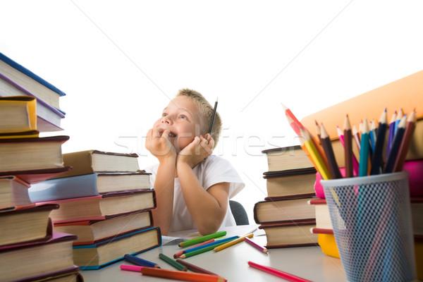 étudier portrait cute séance littérature Photo stock © pressmaster