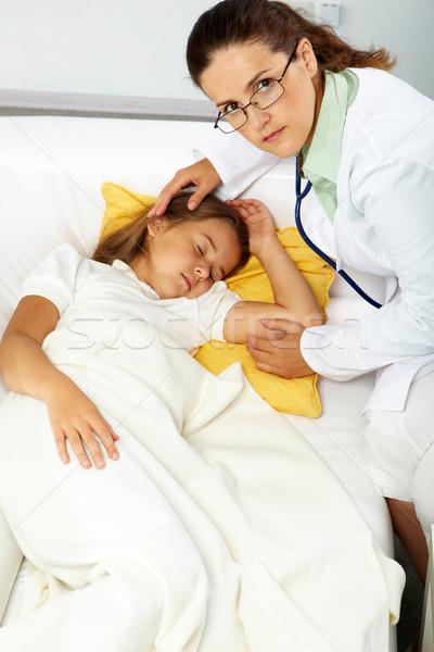 育児 肖像 眼鏡 見える カメラ 病気 ストックフォト © pressmaster