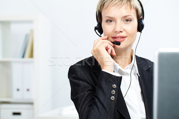 Female receptionist Stock photo © pressmaster