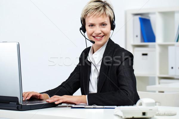 Friendly receptionist Stock photo © pressmaster