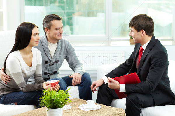 Couple and agent  Stock photo © pressmaster