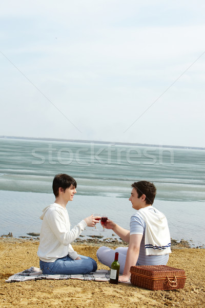 Beach date Stock photo © pressmaster