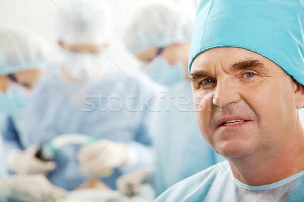 Photo stock: Professionnels · portrait · supérieurs · chirurgien · regarder · caméra