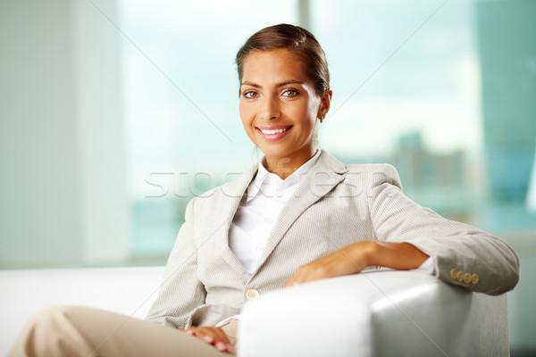 Positief business glimlachend kantoor vrouw positieve houding Stockfoto © pressmaster