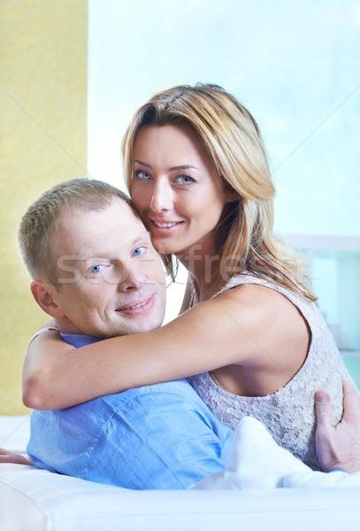 единения красивая женщина муж оба глядя Сток-фото © pressmaster