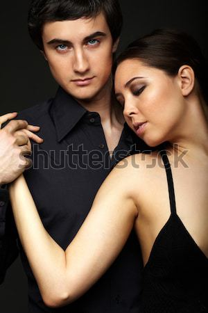 Couple in black Stock photo © pressmaster