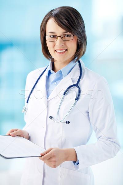 общий практикующий врач вертикальный портрет документа Сток-фото © pressmaster