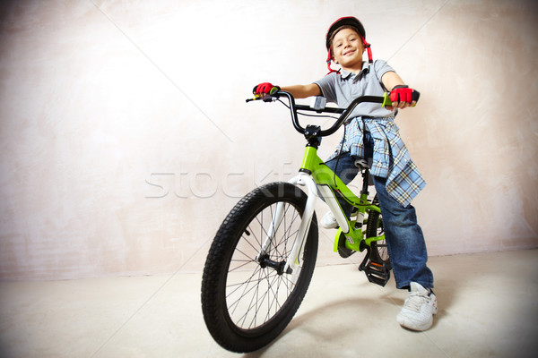 Little mountainbiker Stock photo © pressmaster