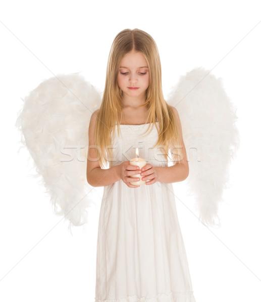 Prier portrait blanche ange brûlant Photo stock © pressmaster
