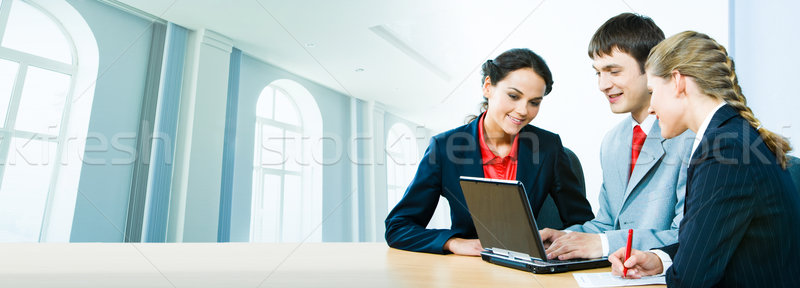 Business conversation  Stock photo © pressmaster