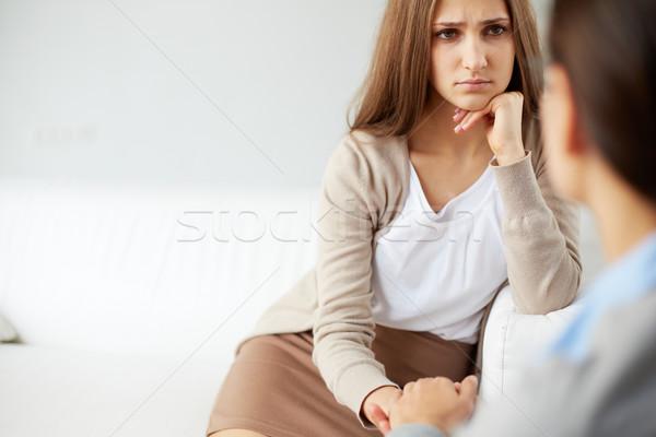 Unglücklich Mädchen Bild traurig Patienten schauen Stock foto © pressmaster
