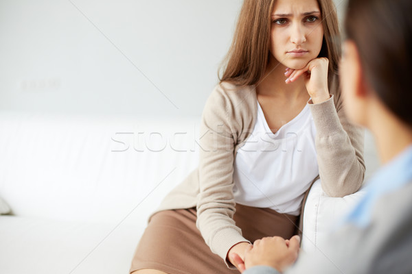 Malheureux fille image triste patient regarder Photo stock © pressmaster