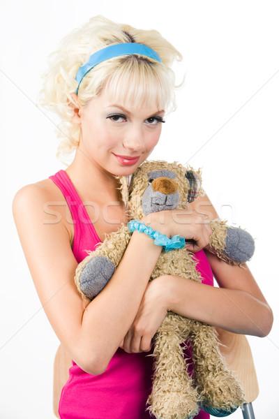 Girl with teddy bear Stock photo © pressmaster