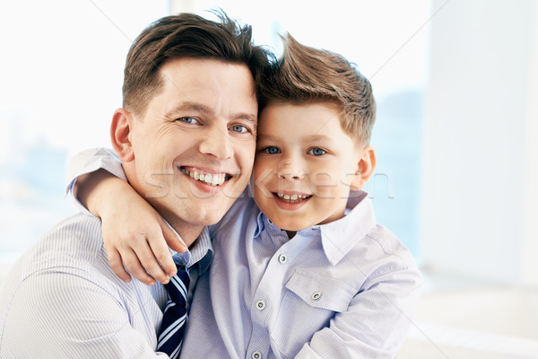 Affection photo heureux homme fils regarder Photo stock © pressmaster