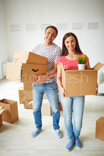 Couple with packages Stock photo © pressmaster
