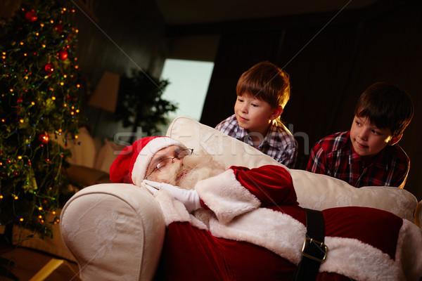 Santa sleeping Stock photo © pressmaster