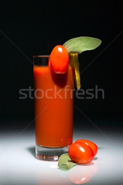 Véres koktél üveg paradicsomok szelet citrom Stock fotó © pressmaster