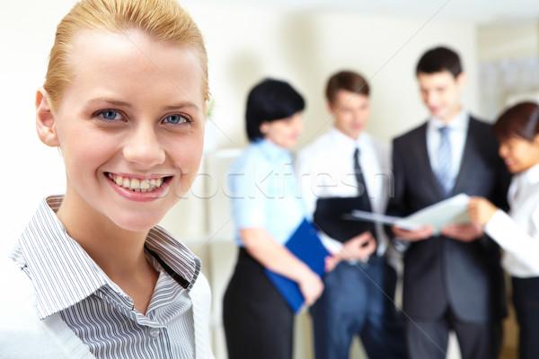 Stockfoto: Leider · groep · afbeelding · mooie · vrouwelijke · naar