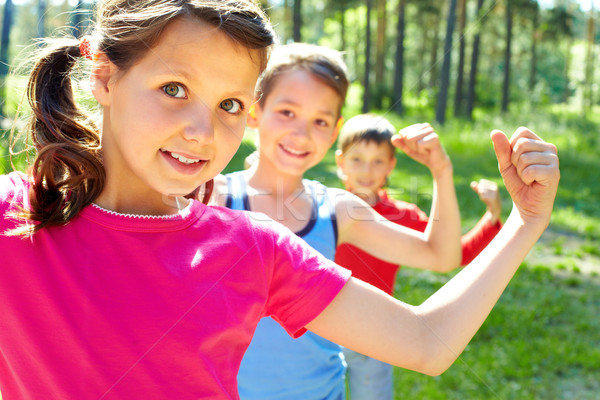 Stock photo: Strong children