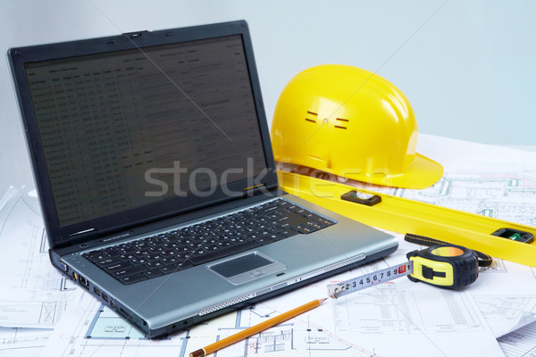 Outils architectural design portable affaires Photo stock © pressmaster