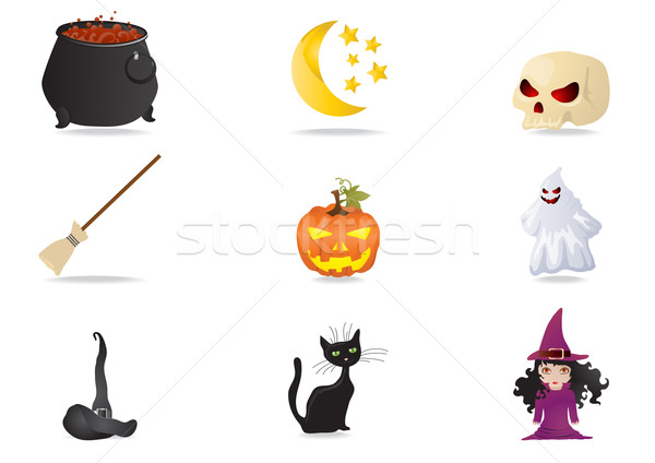 halloween stickers      Stock photo © pressmaster