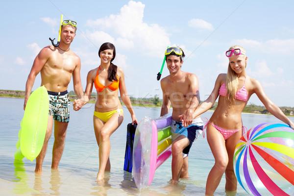 Friends in water Stock photo © pressmaster