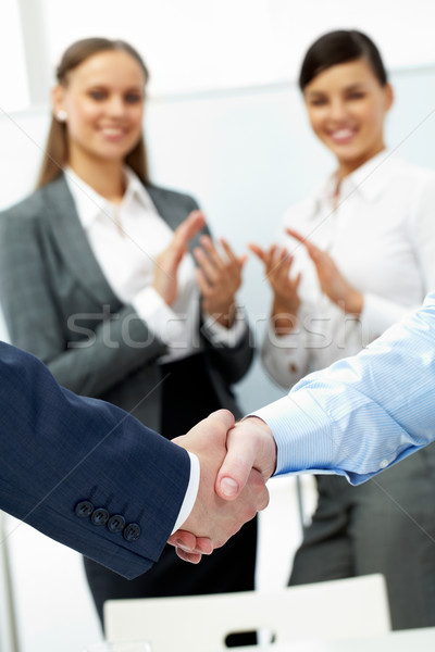 Completing an agreement  Stock photo © pressmaster